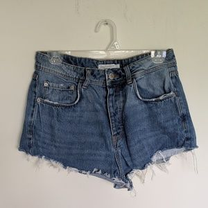 Zara Denim Makers Blue Dark Wash Shorts